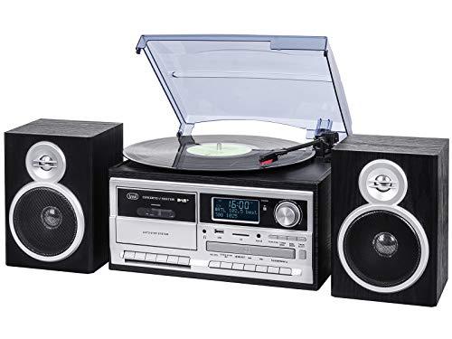 TREVI TT 1072 Dab - Sistema Tocadiscos Estéreo Bluetooth con Receptor Digital...