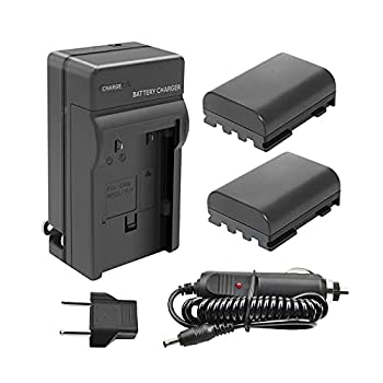 Bonacell 2Pack NB-2L/ NB-2LH Replacement Battery and Charger Compatible with Canon PowerShot S80 S70 S60 S50 S45 S40 S30 G9 G7 DC420 DC410 VIXIA HF EOS 400D 350D Digital Rebel XTi XT