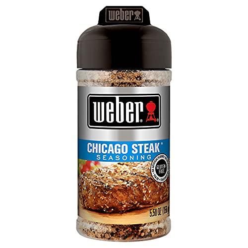 Weber Chicago-Steak-Gewürz, 156 g (1 Packung), ohne MNG, natürliches Aroma, für Steak, Geflügel und Gemüse