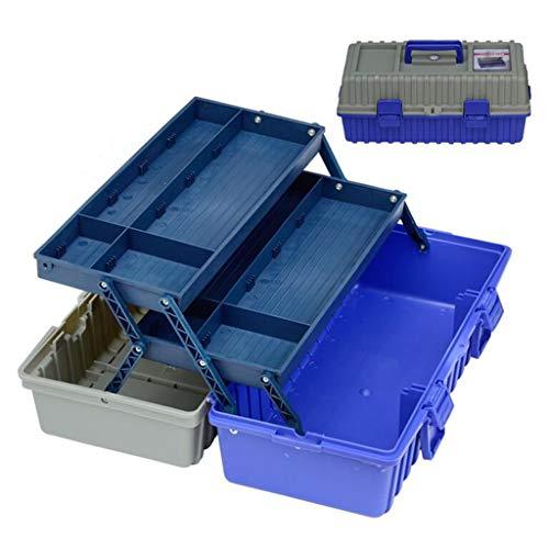 Cajas de herramientas y materiales Caja De Herramientas Plástico Multifuncional Plegable De Tres Capas Caja De Herramientas De Plástico Portátil De Mantenimiento De Electricista De Almacenamiento Domé