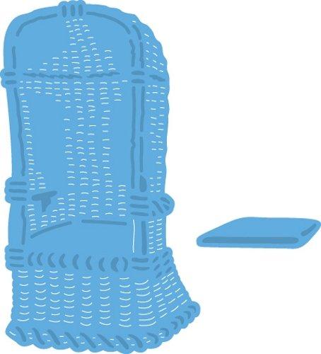 Marianne Design Creatables Troqueles con diseño Sillas de Playa, Metal, Azul, 4,6 x 8 x 0,4 cm