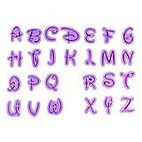 Font Letter/Alphabet Cutter Cutouts (Cookie Cutter Set) - Cutters from Bakell