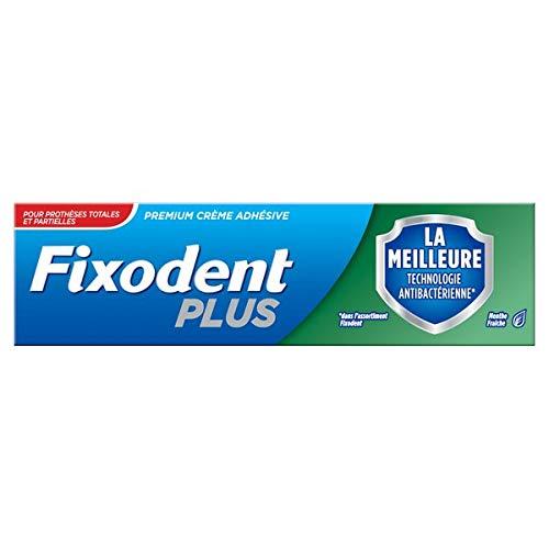 avis colle pour dentier professionnel Crème adhésive pour prothèses Fixodent Plus 40g avec la meilleure technologie antibactérienne