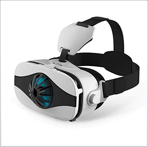 HLKJ Virtual Reality Bril, Vr Headset Verstelbare Lens met Full Eye Protection En Fan, voor Films en games Compatibel met 4.0-6.3 Inches Smartphones