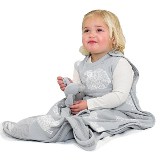 Merino Kids Sac de couchage pour bébés 0-2 ans, Gris clair imprimé mouton