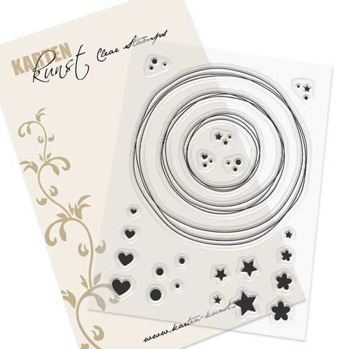 Clear Stamp-Set Stempel-Gummi Karten-Kunst - Kränze & Kreise