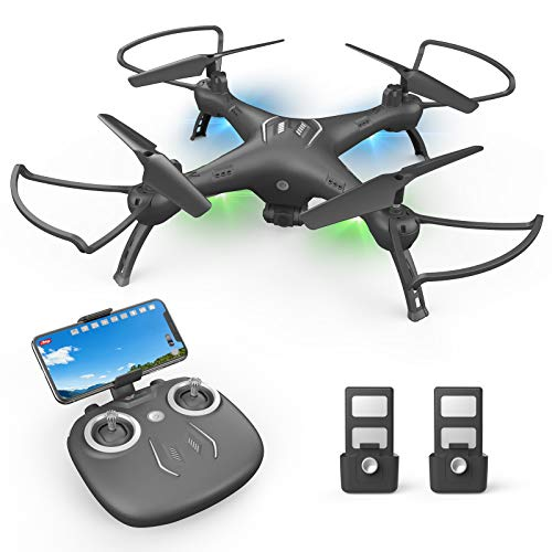 Drone with Camera 1080P HD, Toss to Launch RC Drone for Kids/Adults with Smart APP Trajectory Flight Altitude Hold One Key Take Off/Landing Headless 360°Flip Camera Drone 2 Batteries