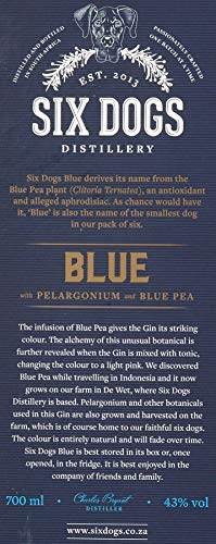 Six Dogs Gin Blue [Perlagonium and Pea] (1 x 0.7 l) - 10