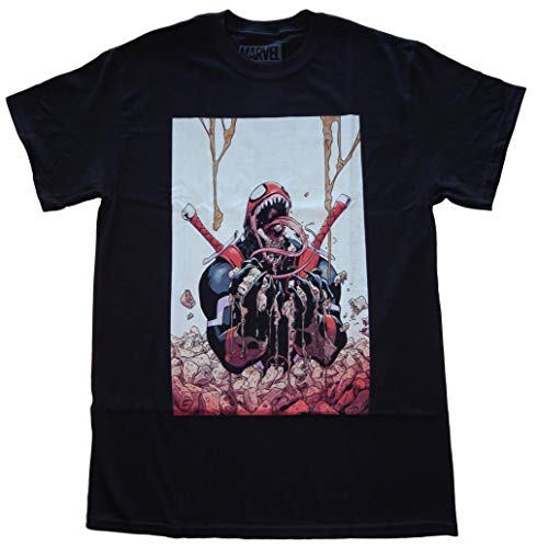 Price comparison product image Marvel Venompool Chimichangas Deadpool Venom Mens Black T-Shirt (X-Large)