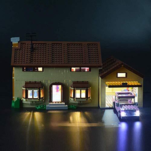 RTMX&kk Conjunto de Luces Modelo de para (La casa de los Simpson), Compatible con Lego 71006 Modelo de Bloques de Construcción (NO Incluido en el Modelo)
