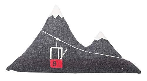 David Fussenegger - Kissen, Dekokissen, Zierkissen - Berg (inkl. Füllung) - anthrazit - 65 x 40 cm