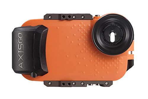 AxisGO iPhone 7 Plus/iPhone 8 Plus Waterproof Phone Housing for Underwater Action Photography Snorkeling Surfing Travel Case - Orange