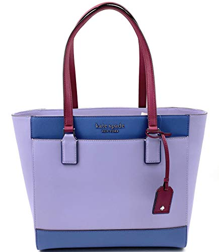 Kate Spade New York Cameron Womens Saffiano Leather Laptop Tote Shoulder Bag (Frznlilacm)