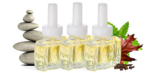 (3 Pack) Scent Fill 100% Natural Patchouli Spa Plug in Refill Air Freshener Clean - Fits Air Wick® Scented Oil Warmers