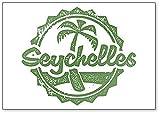 Imán para nevera con ilustración de turismo vintage de Seychelles