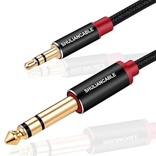 SHULIANCABLE Cable Jack 3.5mm a 6.35mm, Cable Audio Estéreo HiFi, para Guitarra,...