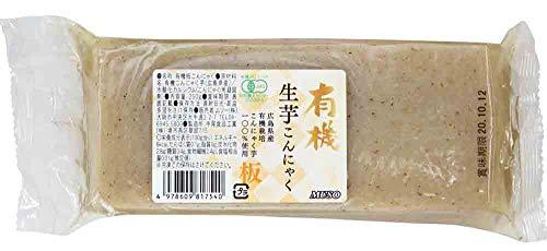 ムソー 新・有機生芋板こんにゃく・広島原料 250g・2020年7月新商品