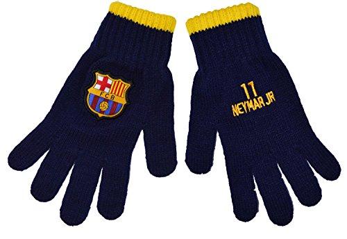 Fc Barcelone Gants Barça - Neymar Jr - Collection Officielle Taille Enfant garçon 6/8 Ans