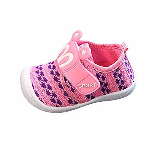 Dorical Unisex Baby Quietsche Schuhe Hasenohren Squeaky Krabbelschuhe für Jungen und Mädchen, Cartoon Anti-Rutsch-Schuhe Soft Sole Lauflernschuhe Sneakers Größe 6-36 Monate(Rosa,20 EU)