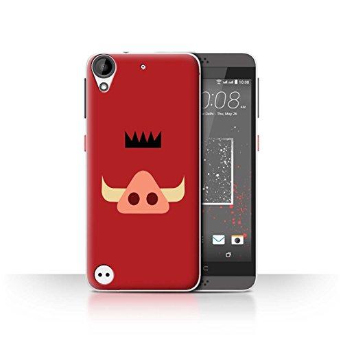 Hülle Für HTC Desire 630 Karikatur Afrikanische Tiere Pumba Inspiriert Design Transparent Ultra Dünn Klar Hart Schutz Handyhülle Case
