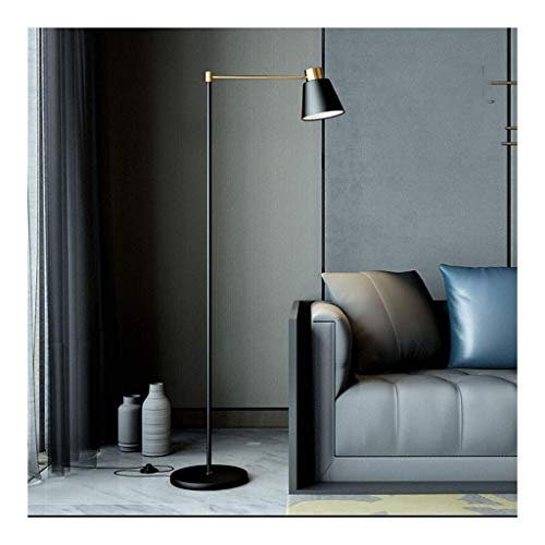 JIN Lámpara de Pie Black Sala de Estar Sofá Dormitorio Nórdico Mesa de Noche Lámpara de Mesita Simple Post-Moderno Lectura Led Led