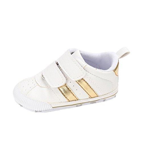 Zapatos de bebé Auxma Zapatillas de Deporte Infantiles Suaves del niño de Prewalker de Las Muchachas de los Muchachos de los bebés para 6-12 12-18 Mes (11cm/0-6 M, C)