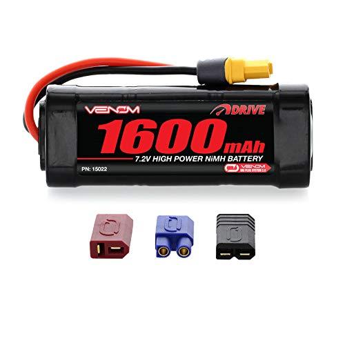 Venom 7.2V 1600mAh 6-Cell NiMH Battery with Universal Plug (EC3/Deans//Tamiya)