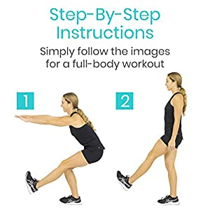 Vive Body Weight Workout Poster - Bodyweight Exercises For Home Gym - Laminated Hitt Chart For Abs, Glute, Core, Legs, Arms, Back - No Equipment Needed - Large Cardio Board For Women, Men, Inspiration