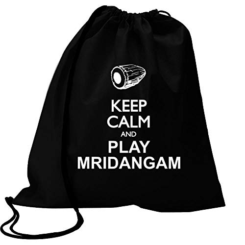 Idakoos Keep Calm and Play Mridangam - Silhouette Sport Bag