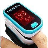 Cushion Oxymètre Portable Multifonctions Fingertip Design étanche avec Moniteur d'oxygène LED de Sang d'affichage adapté à Un Large éventail de Personnes