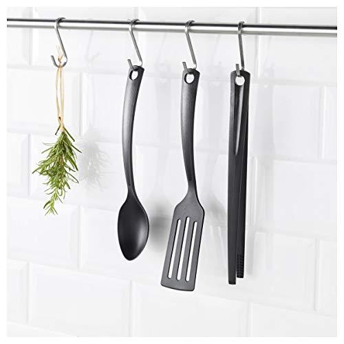 IKEA GNARP Küchenutensilien Set in schwarz; antihaftbeschichtet; 3-tlg.