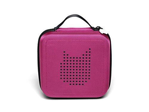 Tonie Transporttasche Beere: Die Box zur Aufbewahrung von bis zu 20 Tonies Hörfiguren - Leicht, Abwaschbar, Reißverschluss, 17,5x17,5 cm