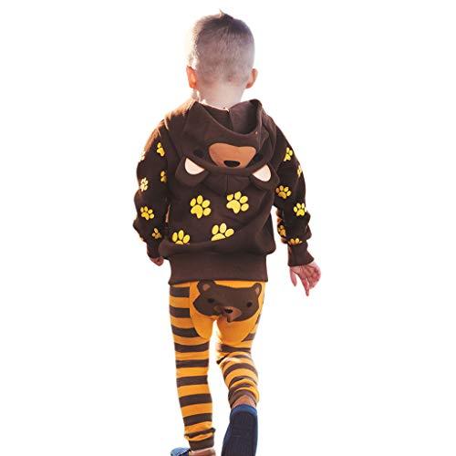 MRULIC Säugling Baby Playsuit Mädchen Jungen Overall Walkanzug Herbst und Winter Langarm Flauschig mit Kapuze Pullover Jumpsuit Outfits Outwear Babysachen