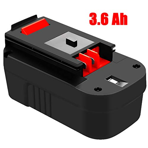 HPB18 3.6Ah Replace for Black and Decker 18 Volt Battery Ni-Mh HPB18-OPE 244760-00 A1718 FS18FL FSB18 Firestorm Cordless Power