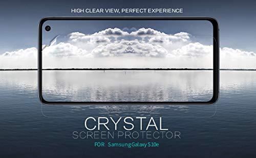 """Nillkin Screen Guard for Samsung Galaxy S10e S 10e (5.8"""" Inch) Whole Set Version Super Clear Front + Camera Sticker"""