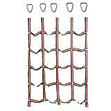 Ysislybin Kletternetz Kinder Outdoor Indoor 1,85x1,45m,Regenbogenband Fitness-Kletternetz mit 5 Dreieckshaken für Körperliches Training und Wettkampfspiel für Kinder, Bärenladung 250kg/Stück