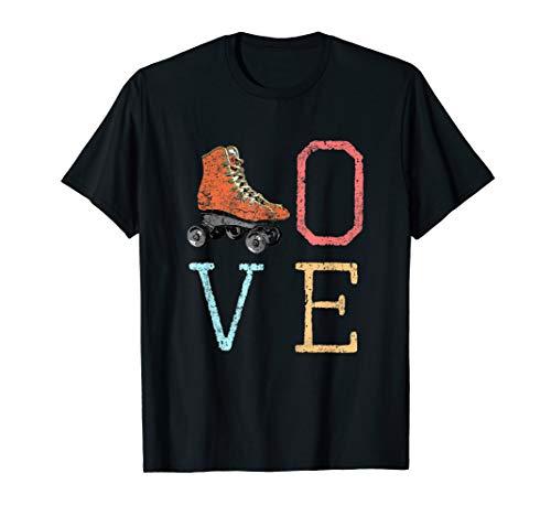 70s Skate Love - Vintage Retro Roller Skating Gift T-Shirt