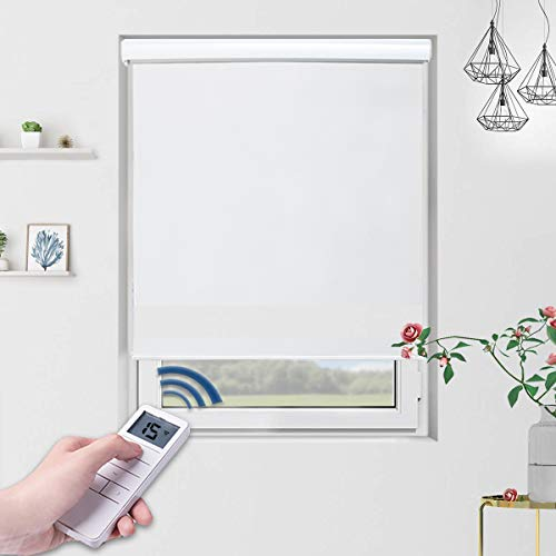 Motorized Shades Motorized Blackout Shades Roller Shades Blackout Blinds for Smart Home and Office 48x72, White