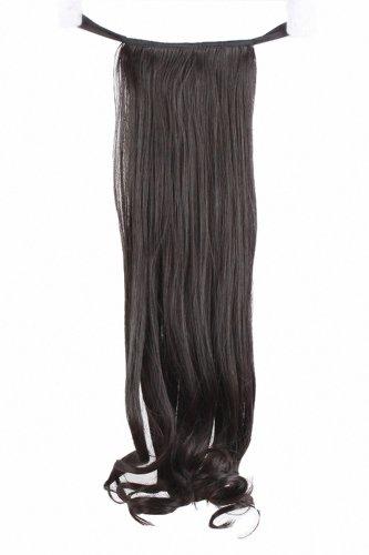 MapofBeauty 20 Pouce/52cm Femmes Simple Souple Curly Longs Type Strap Prêle Queue De Cheval (Noir)