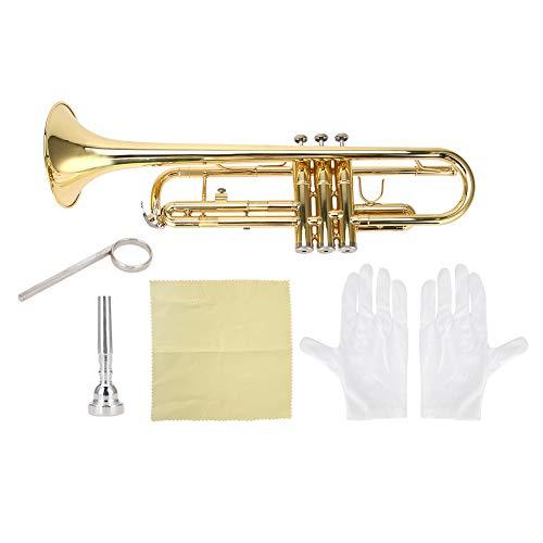 Plaisir dété Trompette en or solide et stable, trompette pla
