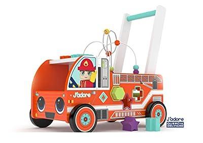 J'adore - Wooden Firefighter Activity Walker