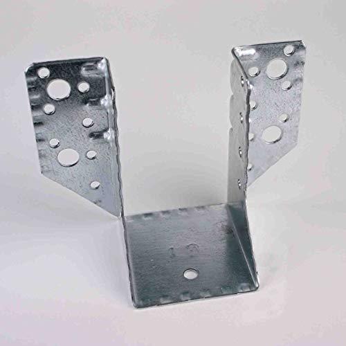 60 x 100 mm Balkenschuh (50 Stück) Balkenschuhe verzinkt DIN EN 10326 Holzverbinder mit Zulassung außenliegend aussen
