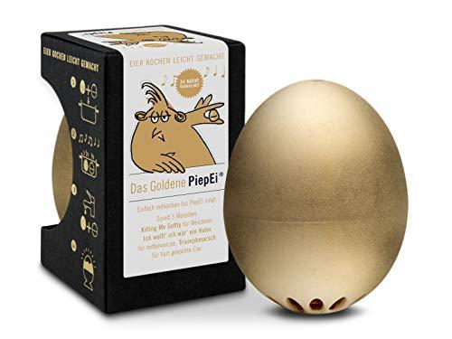 Brainstream Das Goldene PiepEi, Eieruhr zum mitkochen, Spielt 3 Melodien für 3 Härtegrade, A000045