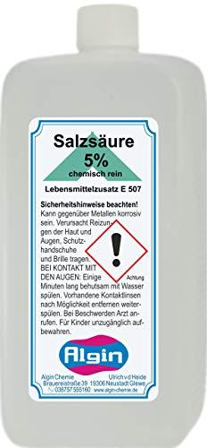 Algin Salzsäure 5% chemisch rein 500ml PE Flasche - Lebensmittelzusatz E 507