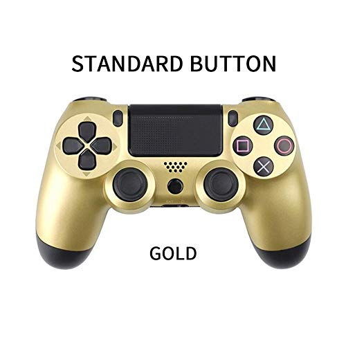 LOGO YCBHD Bluetooth Wireless Gamepad for Sony PS4 Gamepads Controlador Fit Consola for Playstation 4 Gamepad Dualshock 4 Mando de Juegos for PS3 Gamepad (Color : Type2 Gold)