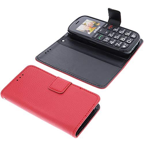 foto-kontor Tasche für Artfone CS182 Book Style rot Schutz Hülle Buch