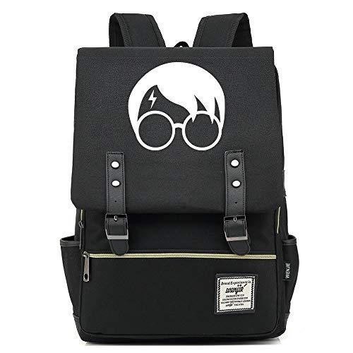 NYLY Jugend Rucksack leichte wasserdichte Oxford Tuch Rucksack Harry Potter Avatar Tasche Mittel Schwarz