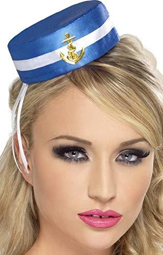 Fancy Me Nautical gewatteerde muts voor dames, militair leger, casemate terrement, levens meisjes, mini-hoed, hoge vorm, accessoires kostuum