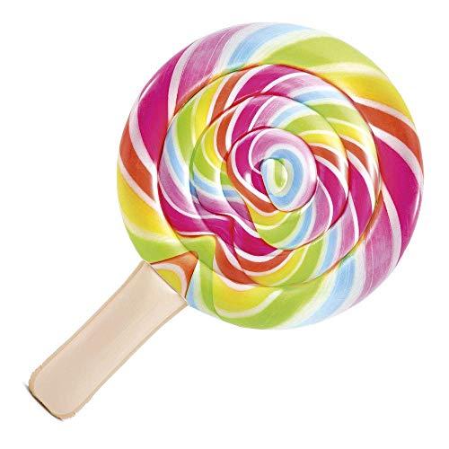 LIBOYUJU Gonfiabile Galleggiante Materasso Gonfiabile Lollipop Lilo 208 X 135 cm per la Piscina, Multicolore