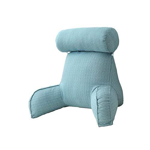 Almohada de Lectura con Soporte para la Espalda Almohada Lumbar Desmontable Almohada de Soporte para cojín Trasero para Cama/sofá/sofá/TV Marfil (#5)